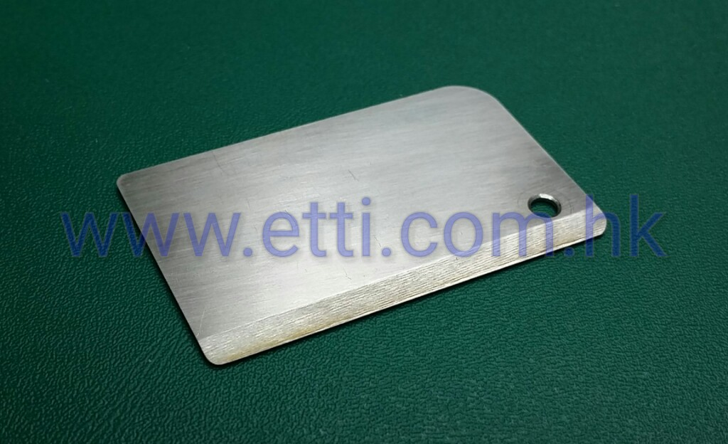 "Mini Hydro Stainless Steel Turn Fin ""Right"" (L50mm x W30mm)"